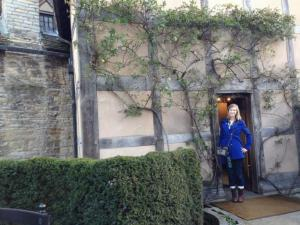 Student Anna Bernard visits Shakespeare's birthplace in Stratford-Upon-Avon
