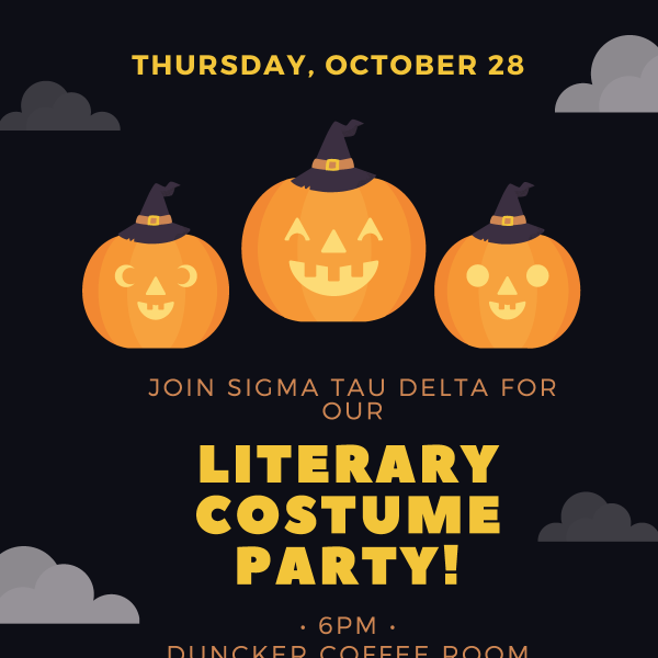 WashU Students: Join Sigma Tau Delta for a Literary Costume Party!